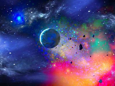 Digital Art - Rogue Planet by Don White Artdreamer