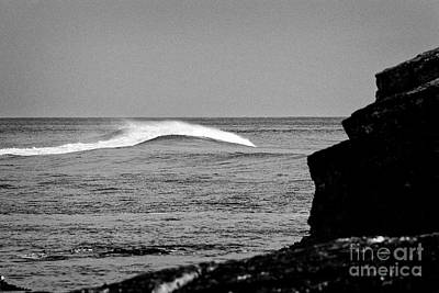 Photograph - rogue wave building on the north antrim coast near Ballintoy county antrim northern ireland by Joe Fox