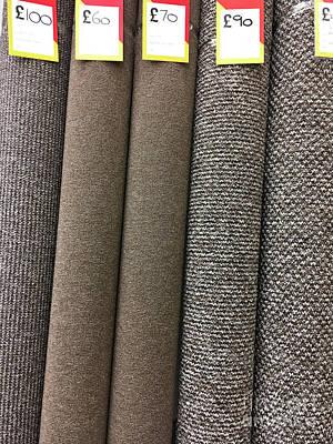 Marketplace Wall Art - Photograph - Rolls Of New Carpet by Tom Gowanlock
