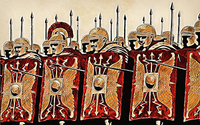 Painting - Roman Legion In Battle - 24 by Andrea Mazzocchetti