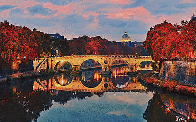Painting - Rome And The Vatican City - 05 by Andrea Mazzocchetti