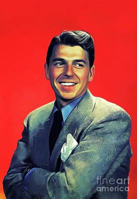 Royalty-Free and Rights-Managed Images - Ronald Reagan, Actor and President by Esoterica Art Agency