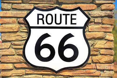 Photograph - Route 66 Vintage Background by Benny Marty