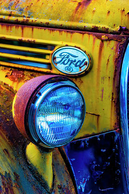 Photograph - Rusting Yellow Ford by Garry Gay