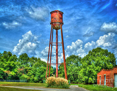 Photograph - Rusty Water Historic Watkinsville Georgia Water Tower by Reid Callaway