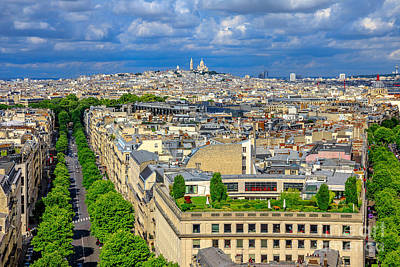 Photograph - Sacre Coeur Aerial Panorama by Benny Marty