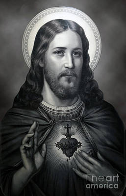 Photograph - Sacred Heart Of Jesus  by Sacred Heart Holdings LLC