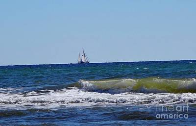 Sea Wall Art - Photograph - Sailing by Megan Cohen