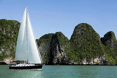 Recreational Boat Photograph - Sailing Sailboat Phuket Province Phang by Laughingmango