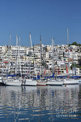 Photograph - Sailing Yachts In Mikrolimano Port by George Atsametakis