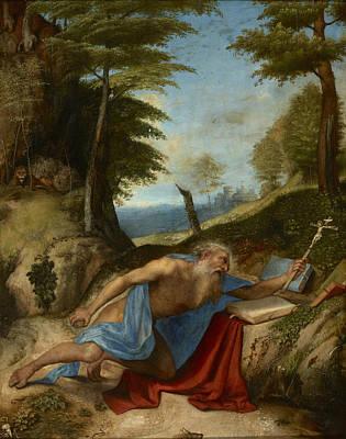 Painting - Saint Jerome Penitent by Lorenzo Lotto