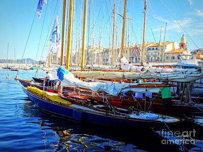 Photograph - Saint Tropez Harbor by Lainie Wrightson