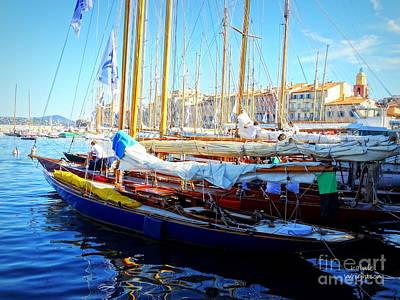Photograph - Saint Tropez Harbor by Lainie Wrightson