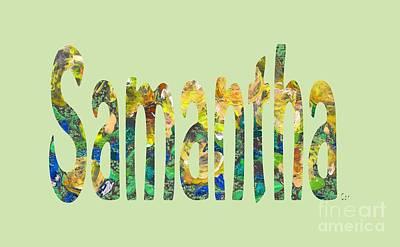 Digital Art - Samantha by Corinne Carroll