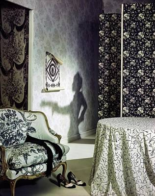 Photograph - Samples Of Black And White Textiles by Horst P. Horst