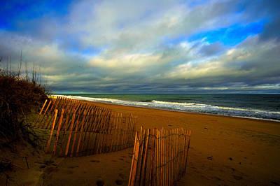 Photograph - Sand Fences  by John Harding