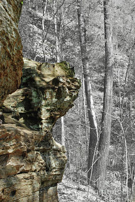 Digital Art - Sandstone Outcropping by Phil Perkins