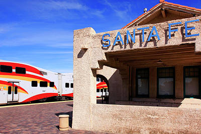 Photograph - Santa Fe Railway Station by Chris Smith