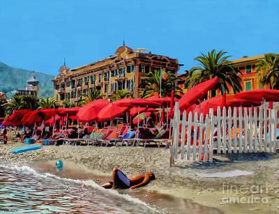 Painting - Santa Margherita Beach by Debra Chmelina