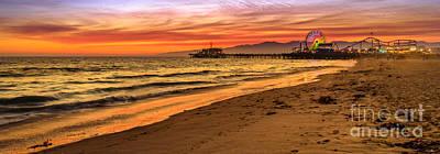 Photograph - Santa Monica Pier Banner by Benny Marty