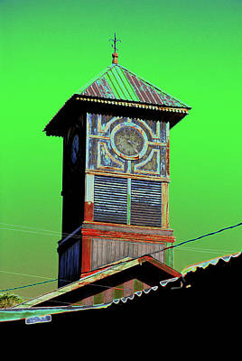 Photograph - Santa Rosalia Clocktower by Jeff Brunton