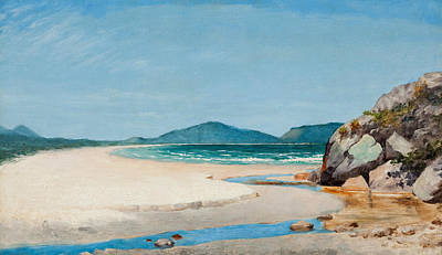 Painting - Seascape, Guaruja by Almeida Junior