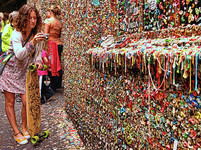 Photograph - Seattle Gum Wall by Allen Beatty