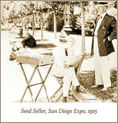 Photograph - Seed Seller, San Diego Expo, 1915, Vintage Photograph by A Gurmankin