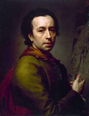 Painting - Self-portrait by Anton Raphael Mengs