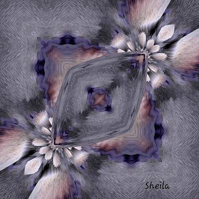 Painting - Shadow Abstract Art by Sheila Mcdonald
