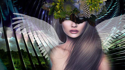 Mixed Media Royalty Free Images - She Came From Heaven Royalty-Free Image by Marvin Blaine