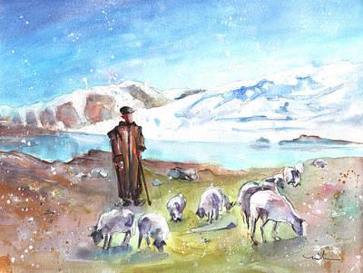 Painting - Shepherd In The Atlas Mountains by Miki De Goodaboom
