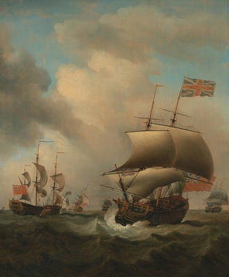 Painting - Shipping In A Choppy Sea by Samuel Scott