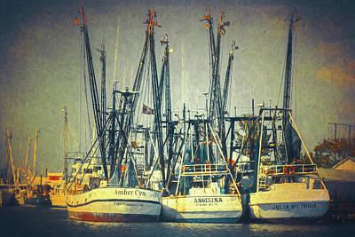 Photograph - Shrimp Boats by Robert FERD Frank