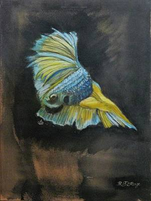 Pastel - Siamese Fighting Fish 4 by Richard Le Page