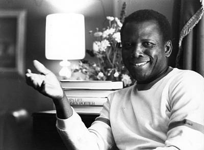 Photograph - Sidney Poitier by Evening Standard