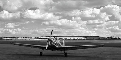 Photograph - Silver Airplane Duxford England by Rick Veldman