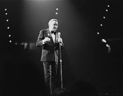 Photograph - Sinatra On Stage by David Redfern