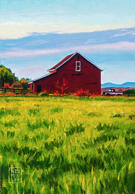 Painting - Skagit Valley Barn #4 by Stacey Neumiller