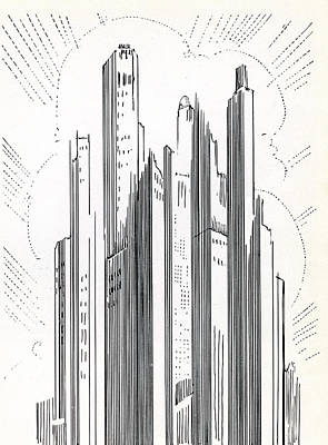 Photograph - Skyscrapers In American City by Graphicaartis
