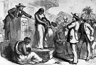 Slave Auction Art Print by Rischgitz