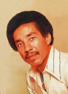 Music Paintings - Smokey Robinson, Music Legend by Esoterica Art Agency