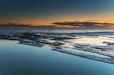 Photograph - Smooth And Rough Dawn Seascape by Merrillie Redden
