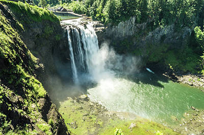 Photograph - Snoqualmie Falls, Famous Waterfall In Washington, Usa by Alex Grichenko