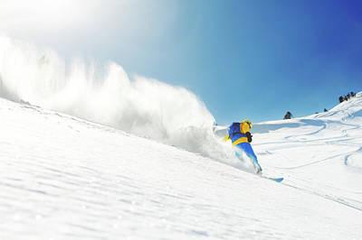 Photograph - Snowboarding by Yulkapopkova