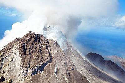 Antilles Photograph - Soufriere Hills Volcano, Montserrat by Michaelutech