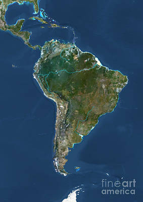 Photograph - South America by PlanetObserver