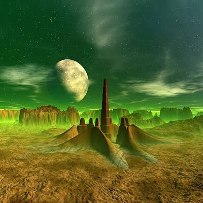 Digital Art - Space Colony, Artwork by Mehau Kulyk