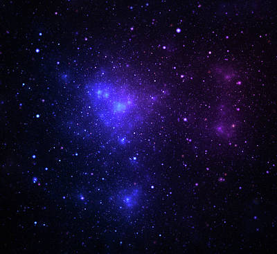 Photograph - Space Nebula by Sololos