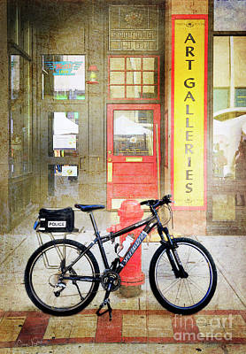 Photograph - Specialized Police Bicycle by Craig J Satterlee
